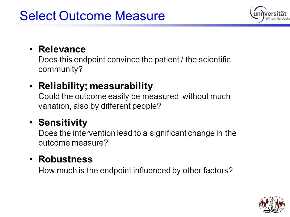 Select Outcome Measure