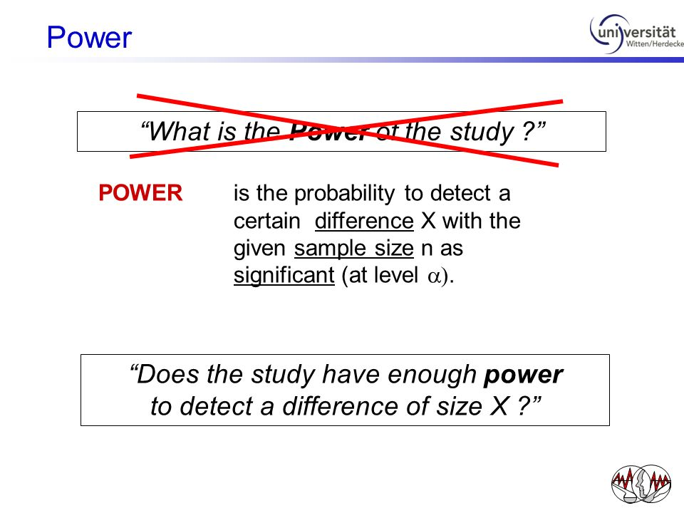 Power What is the Power of the study