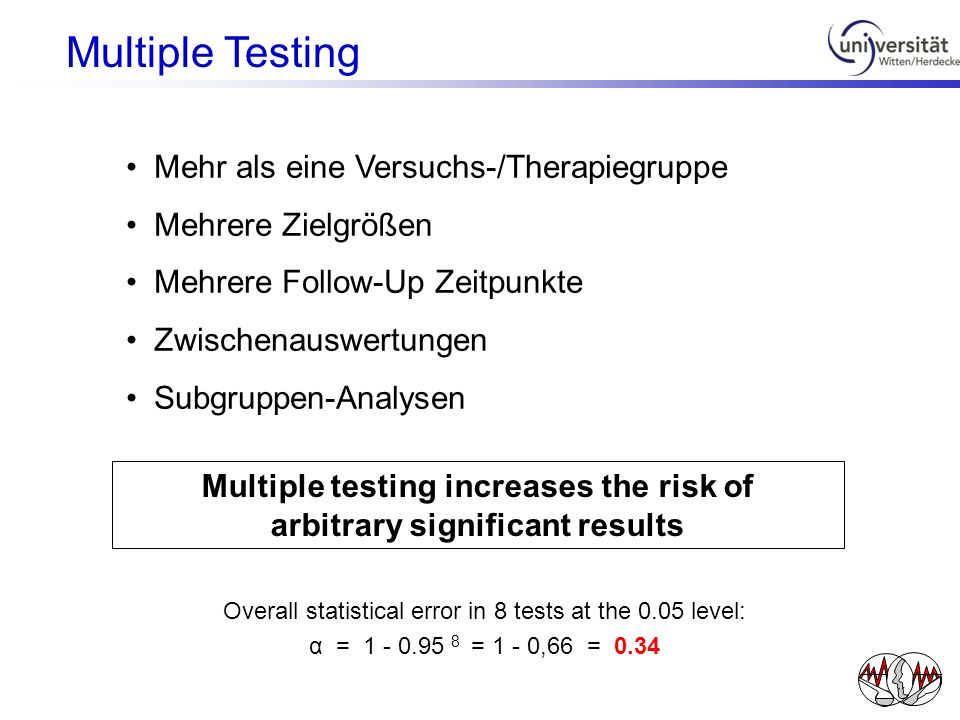 Multiple testing increases the risk of arbitrary significant results