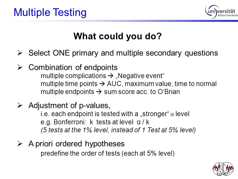 Multiple Testing What could you do