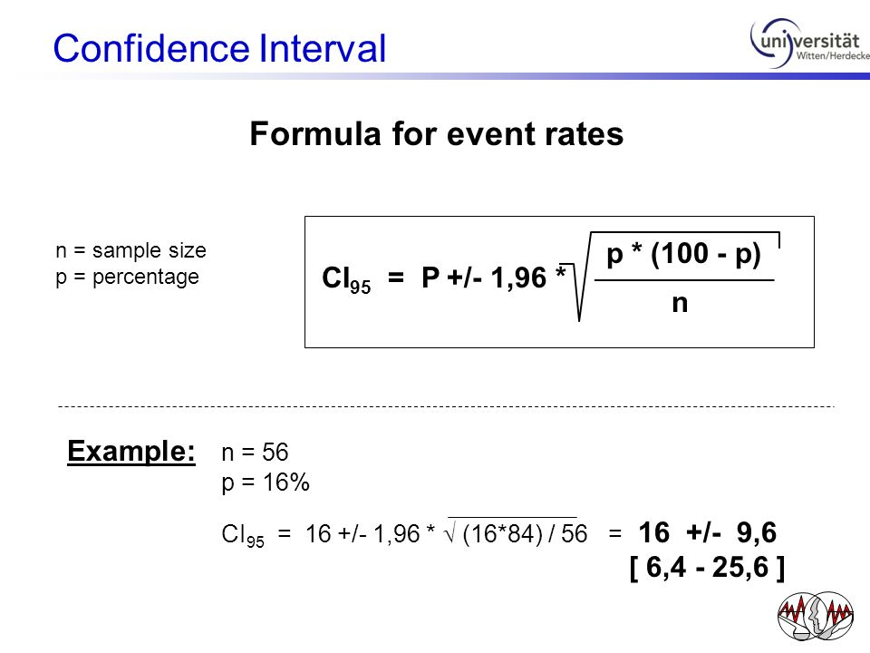 Formula for event rates