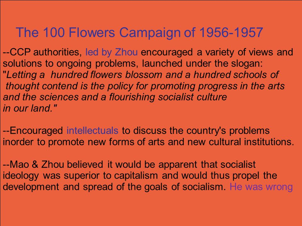 The 100 Flowers Campaign of