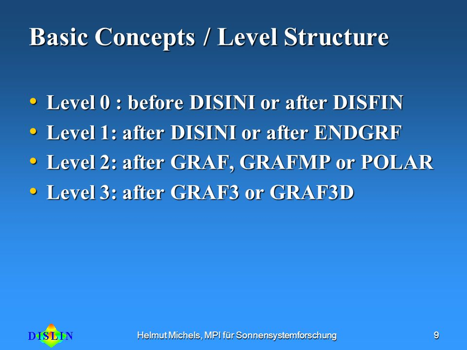 Basic Concepts / Level Structure