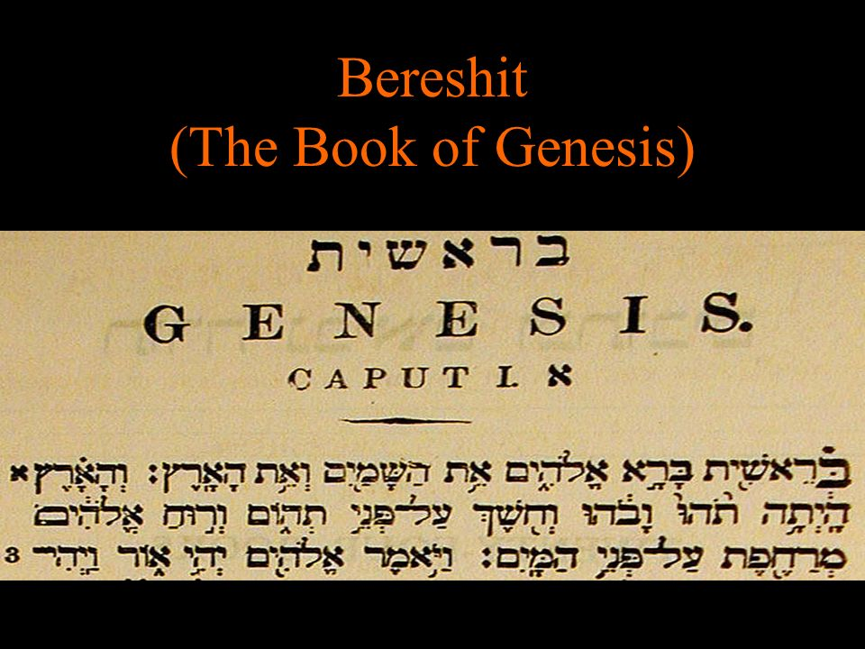 Bereshit (The Book of Genesis)