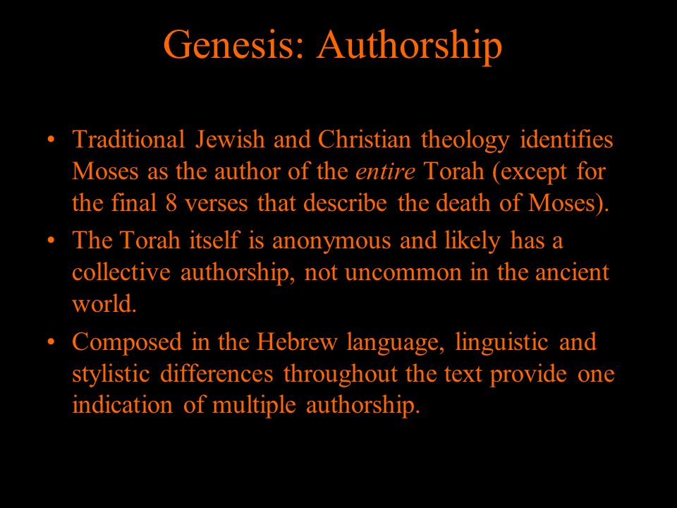 Genesis: Authorship