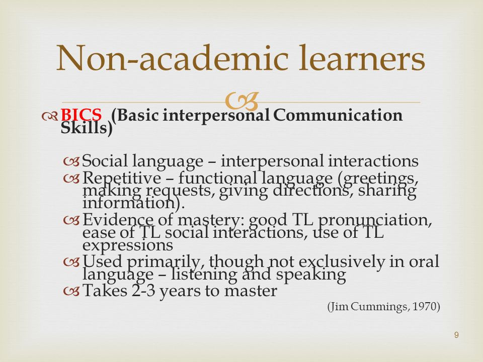 Non-academic learners