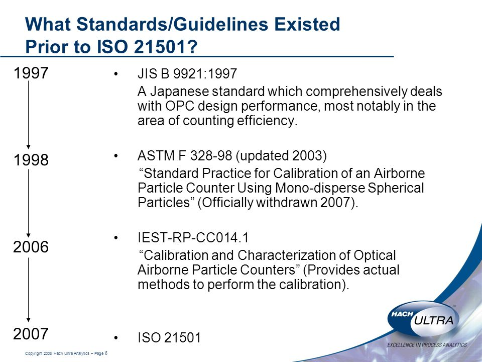What Standards/Guidelines Existed Prior to ISO