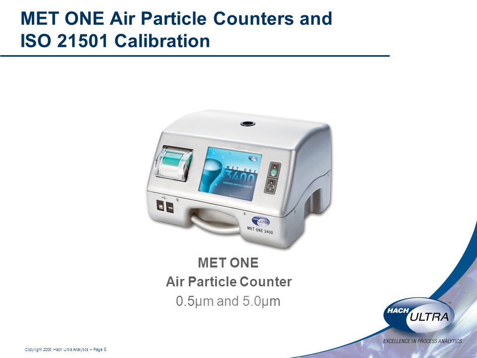 MET ONE Air Particle Counters and ISO Calibration