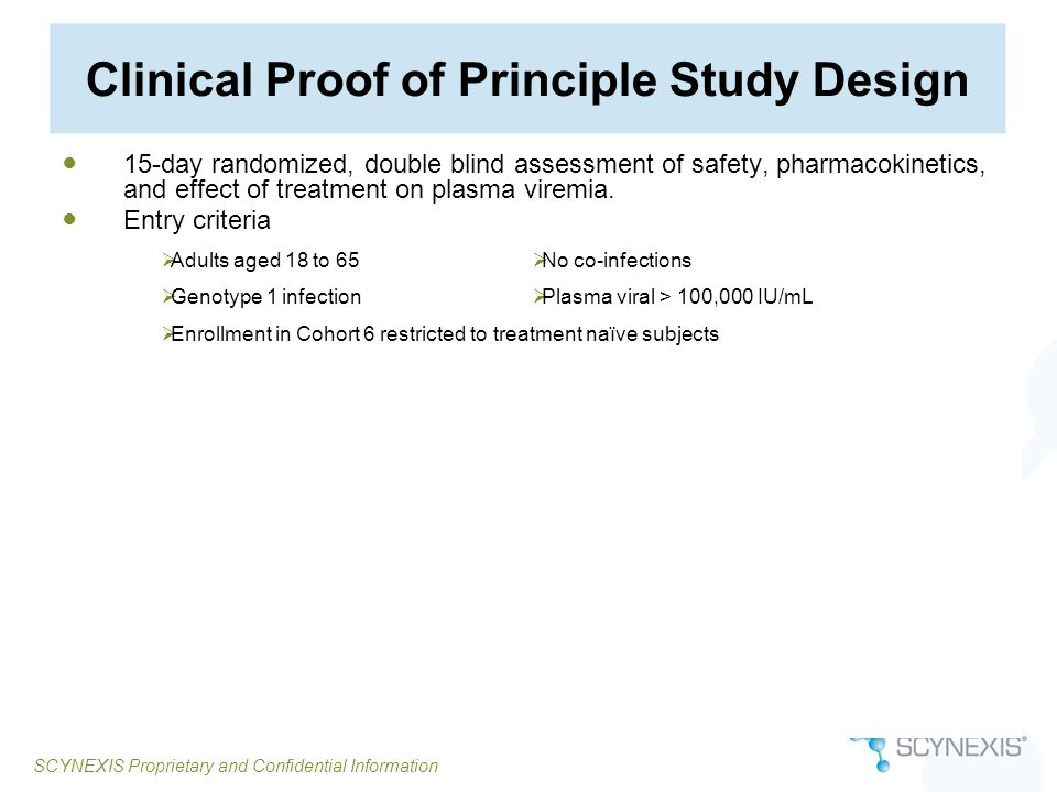 Clinical Proof of Principle Study Design