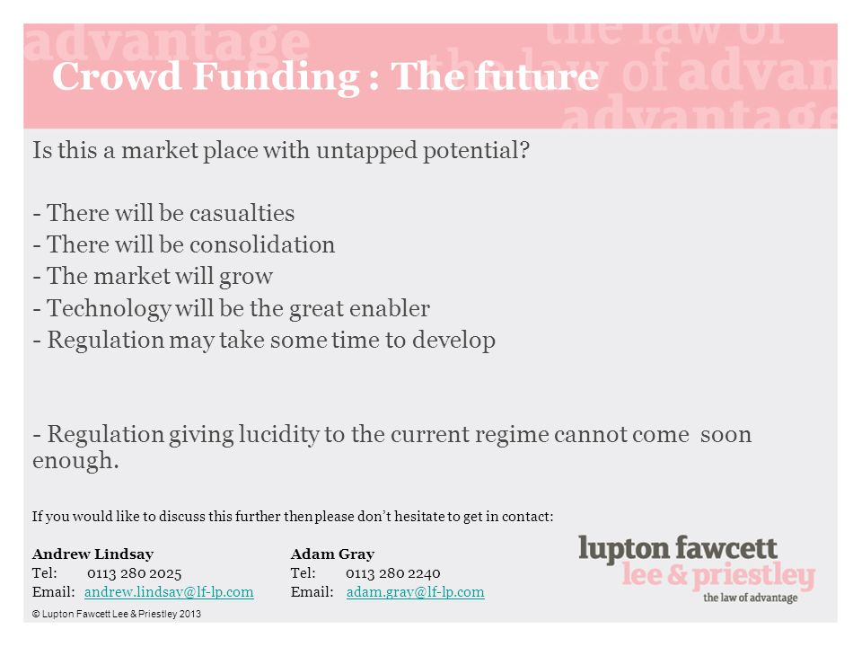 Crowd Funding : The future