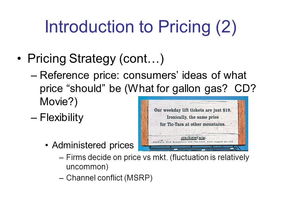 Introduction to Pricing (2)