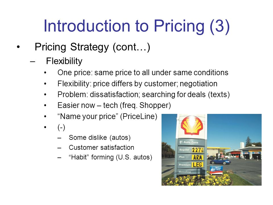 Introduction to Pricing (3)