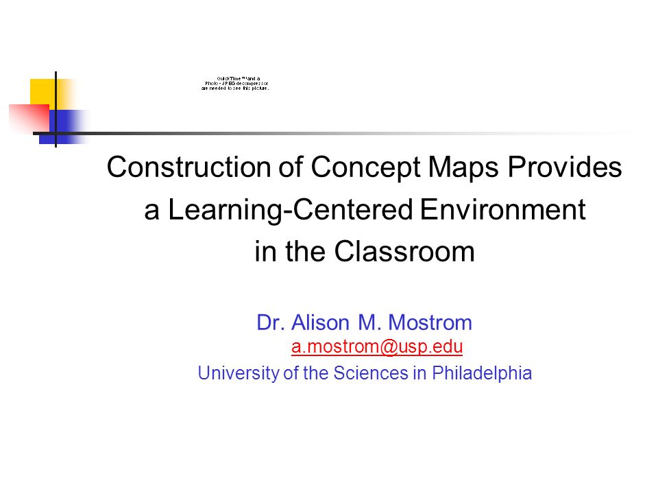 Construction of Concept Maps Provides a Learning-Centered Environment