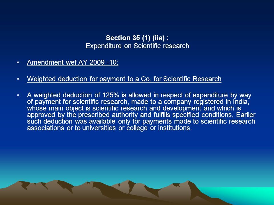 Expenditure on Scientific research