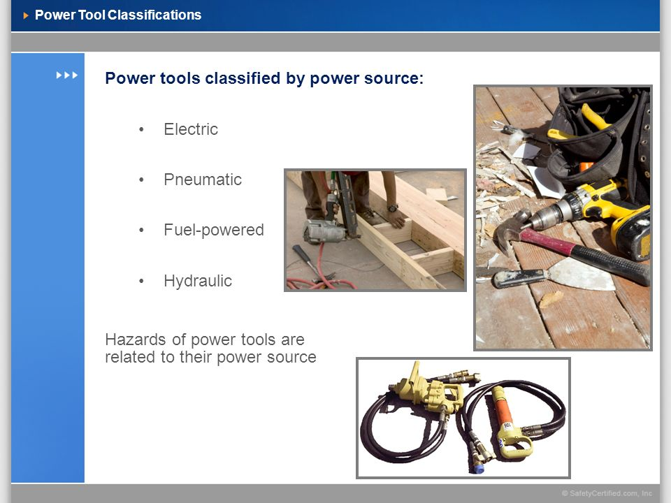 Power Tool Classifications