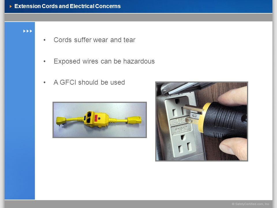 Extension Cords and Electrical Concerns