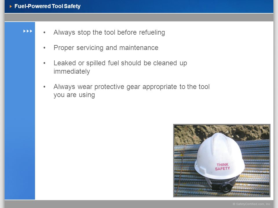 Fuel-Powered Tool Safety