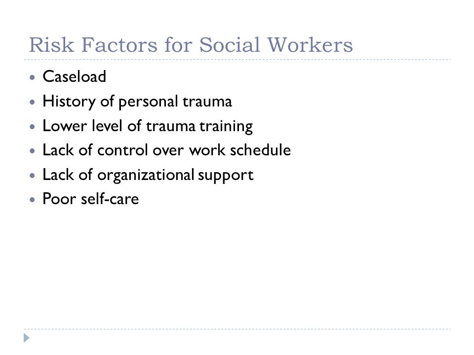 Risk Factors for Social Workers