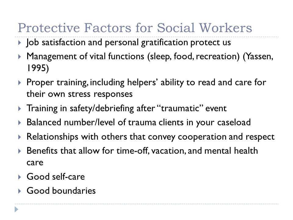 Protective Factors for Social Workers