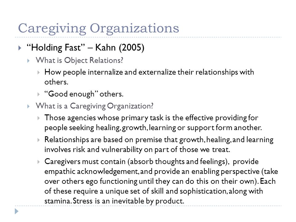 Caregiving Organizations