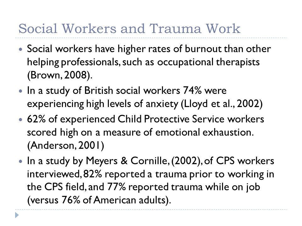 Social Workers and Trauma Work