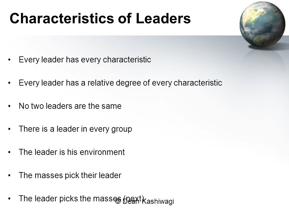 Characteristics of Leaders
