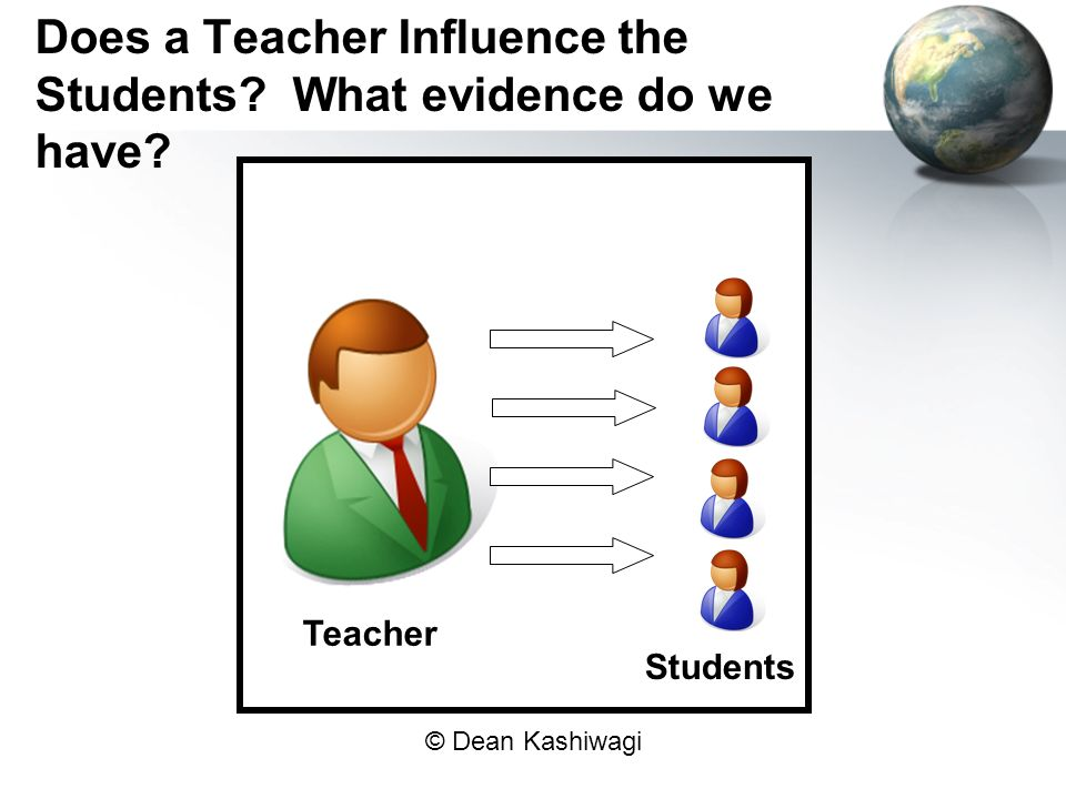 Does a Teacher Influence the Students What evidence do we have