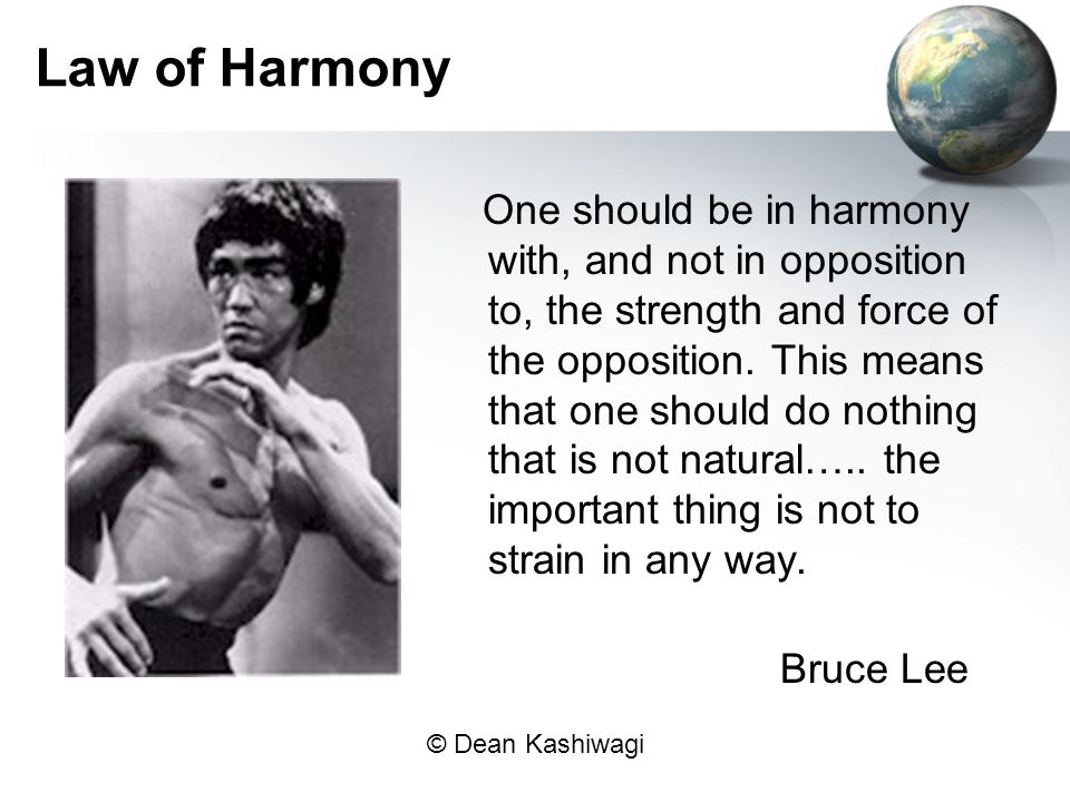 Law of Harmony