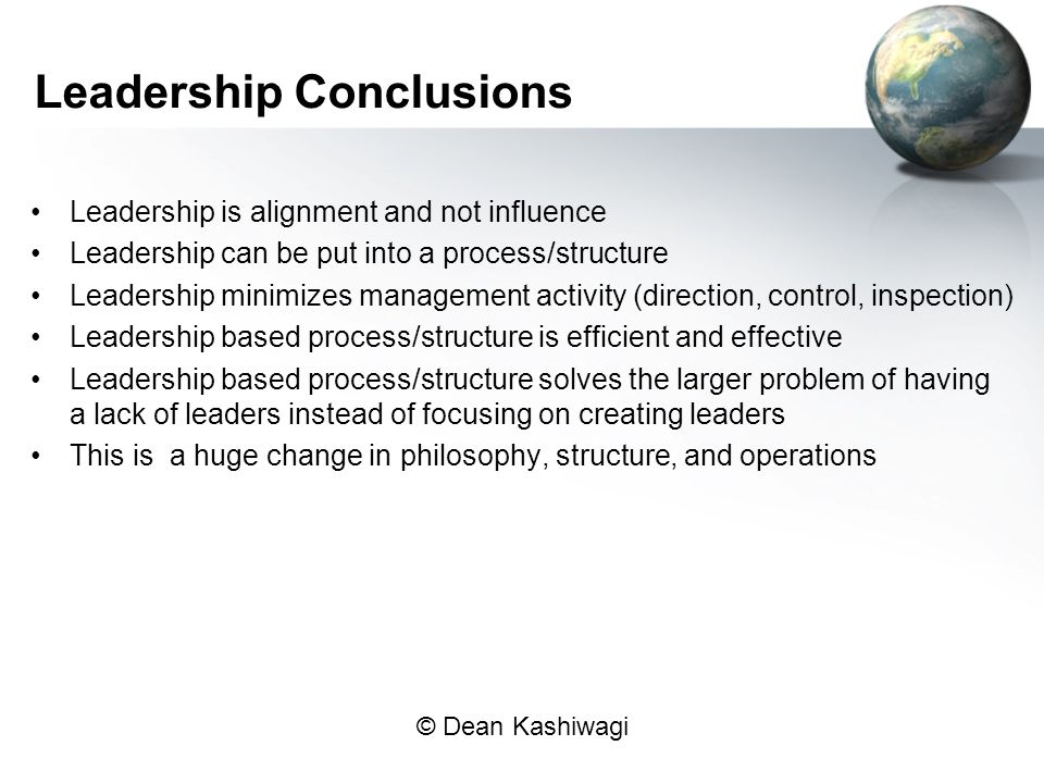 Leadership Conclusions