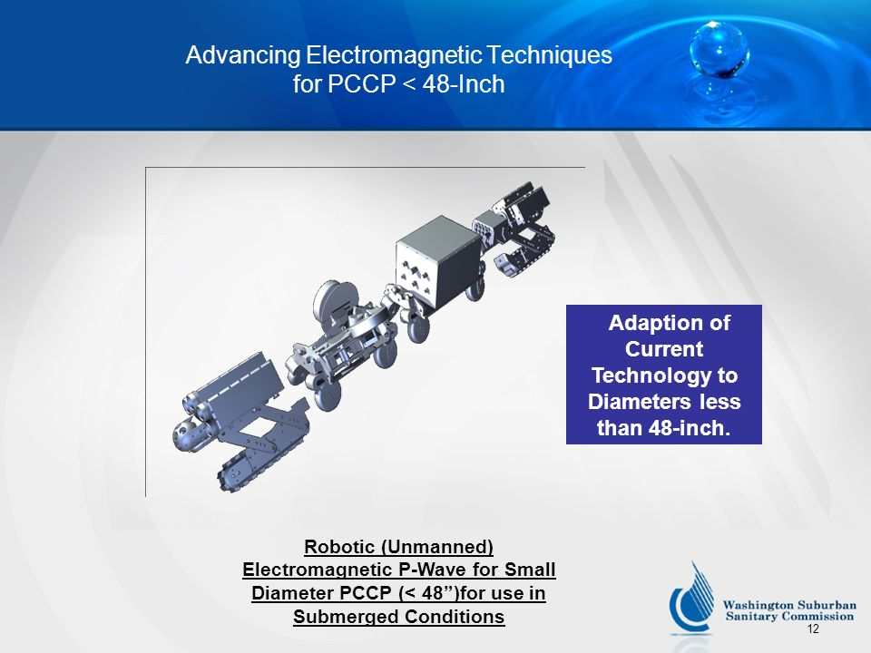 Advancing Electromagnetic Techniques for PCCP < 48-Inch