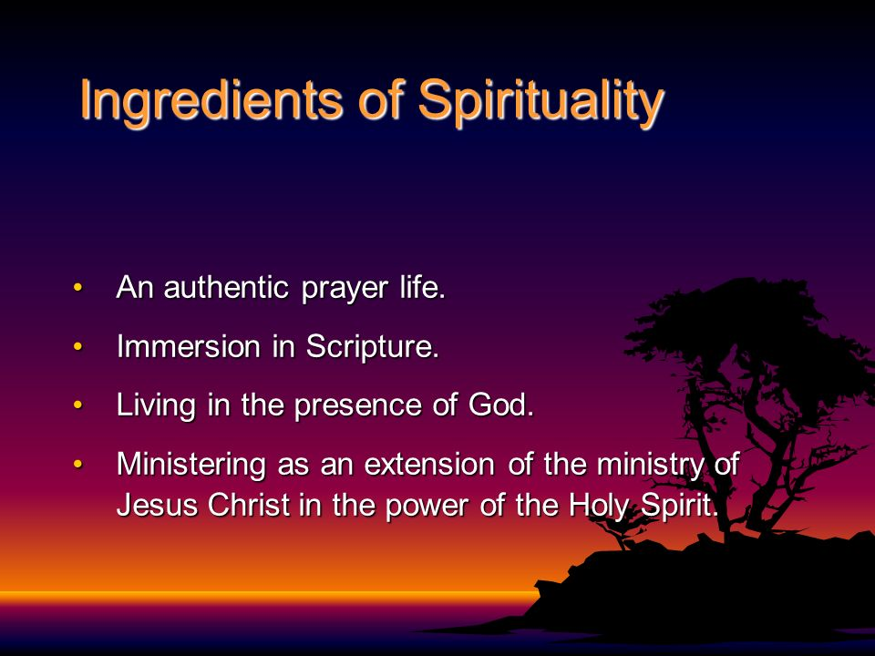 Ingredients of Spirituality