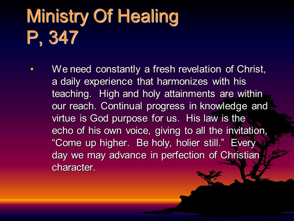 Ministry Of Healing P, 347