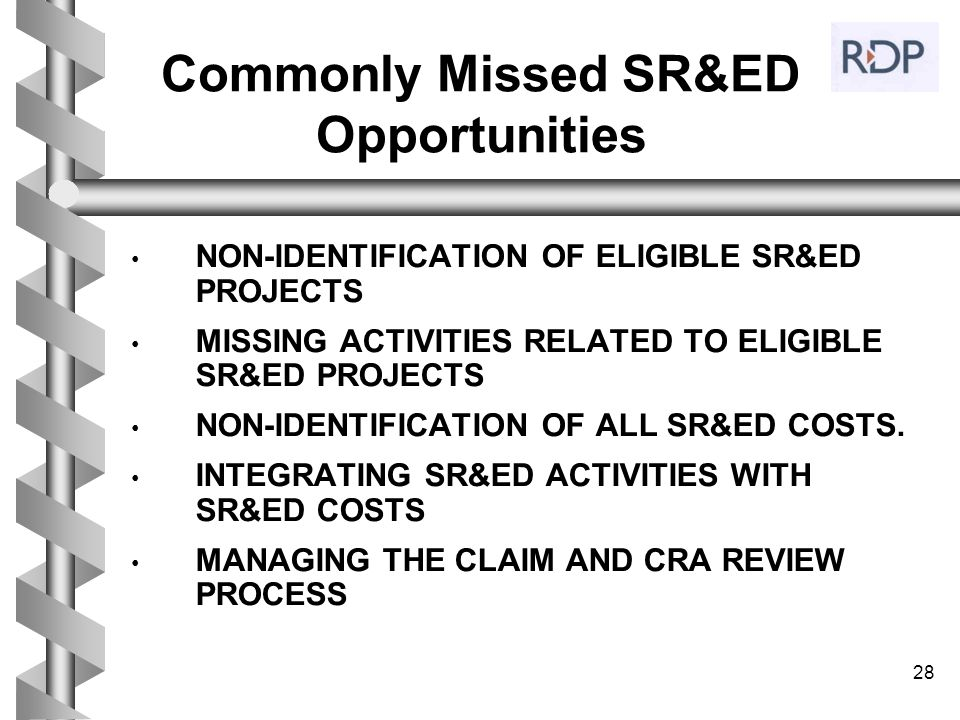 Commonly Missed SR&ED Opportunities