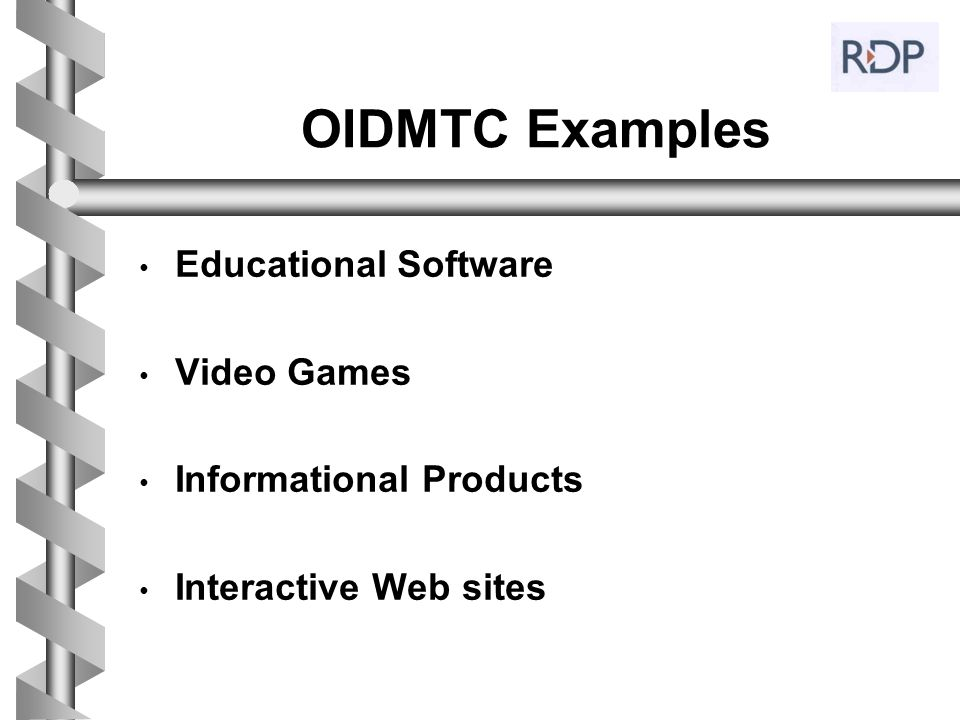 OIDMTC Examples Educational Software Video Games