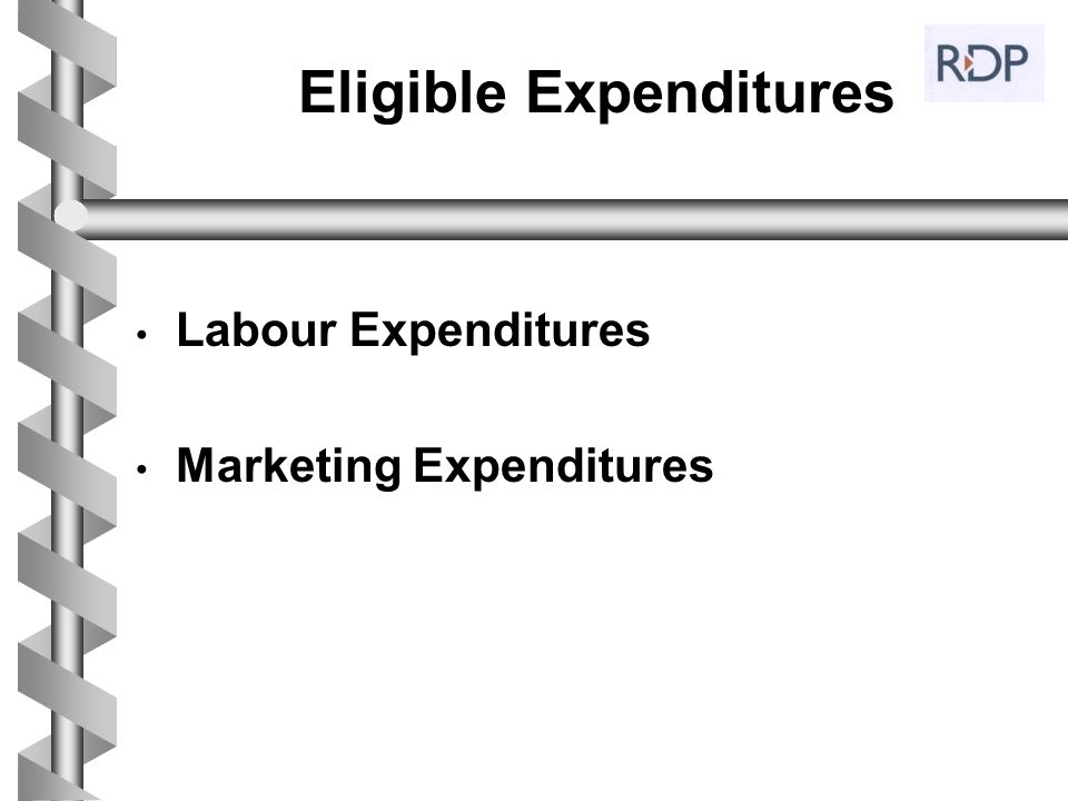 Eligible Expenditures