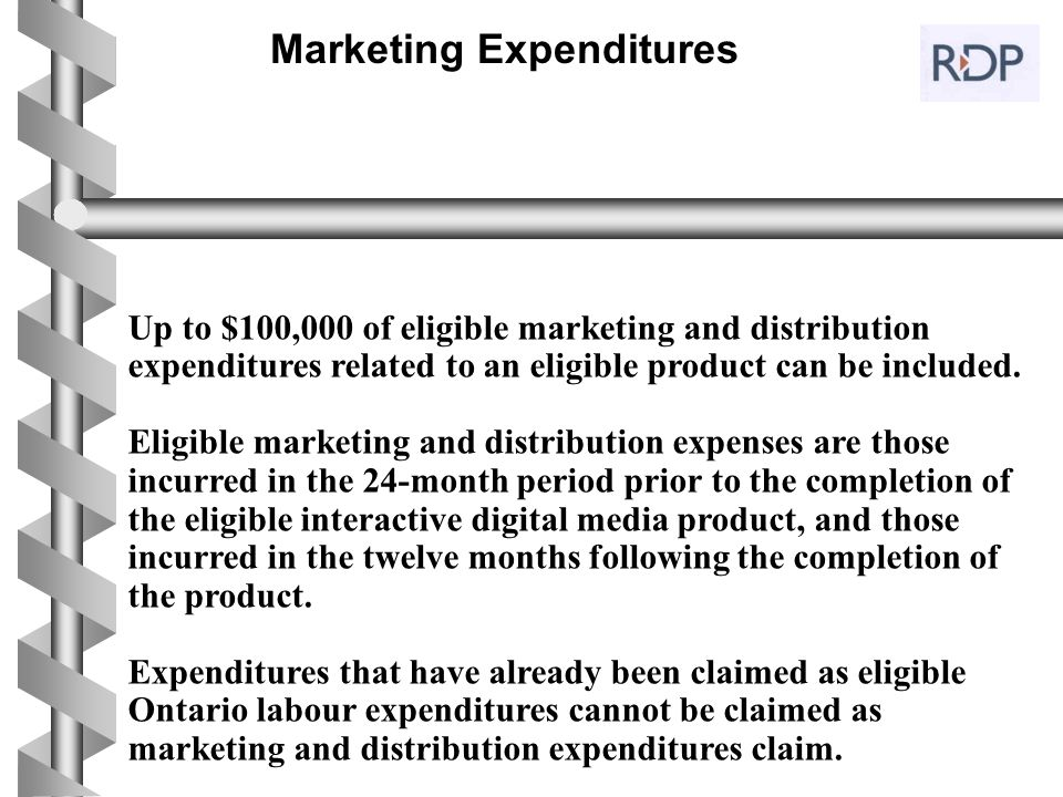 Marketing Expenditures