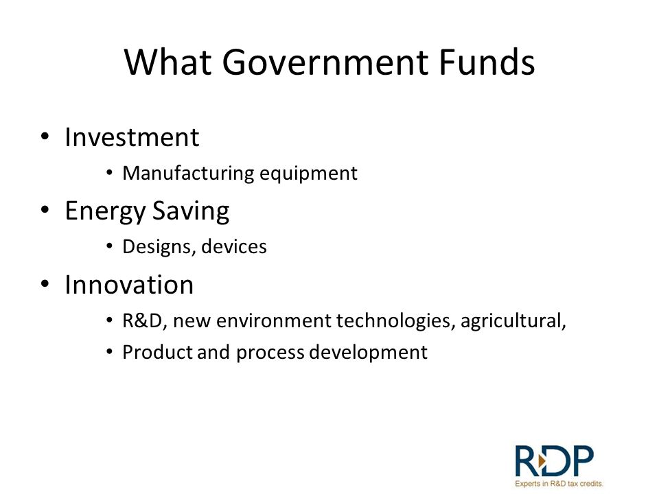 What Government Funds Investment Energy Saving Innovation