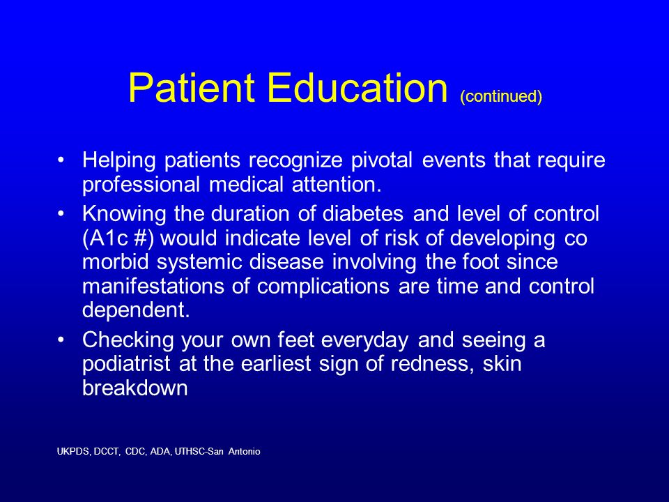 Patient Education (continued)