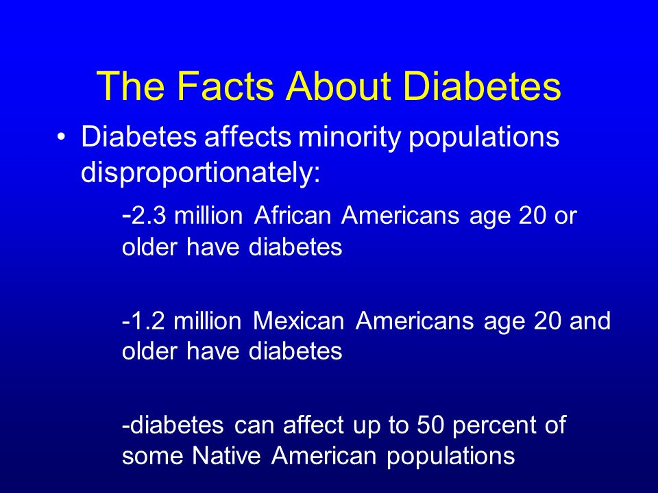 The Facts About Diabetes