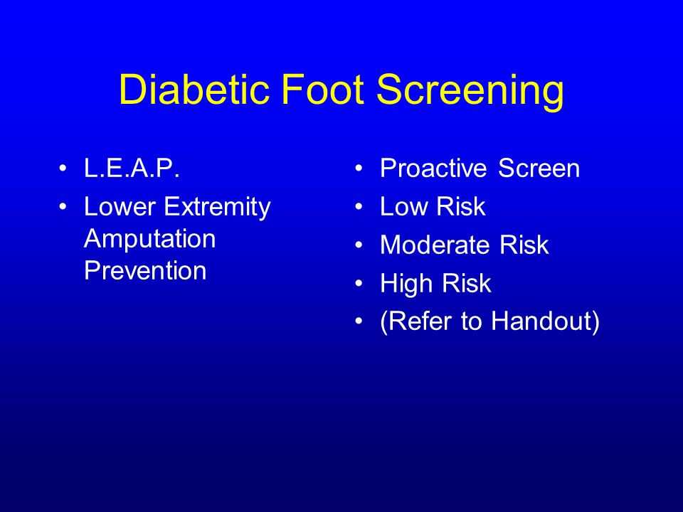 Diabetic Foot Screening