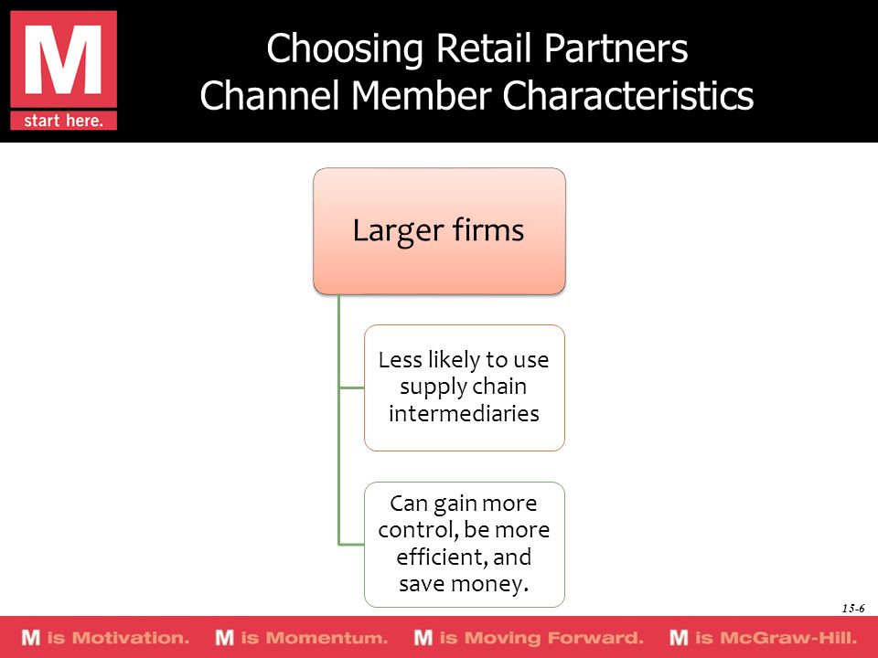 Choosing Retail Partners Channel Member Characteristics