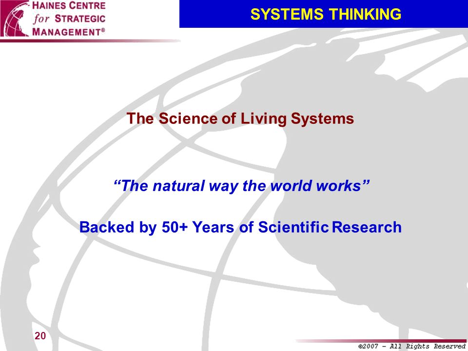 The Science of Living Systems