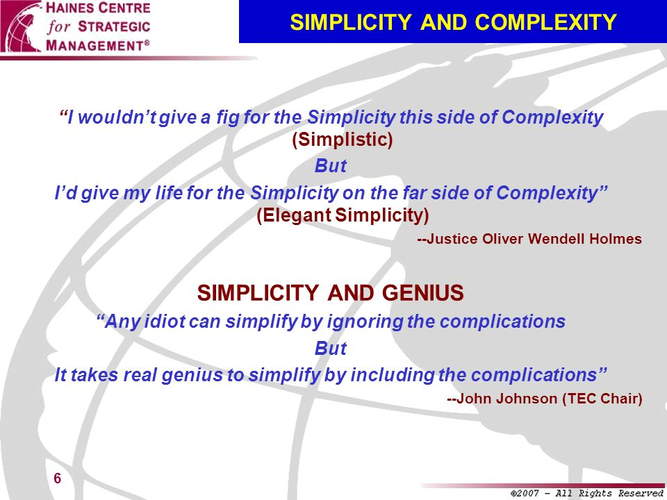 SIMPLICITY AND COMPLEXITY