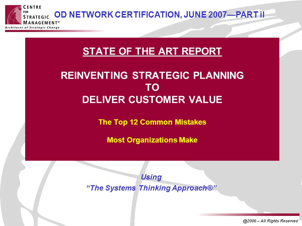 Using The Systems Thinking Approach®