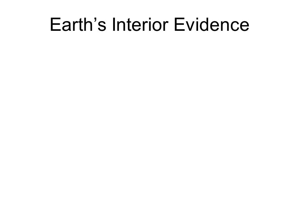 Earth's Interior Evidence