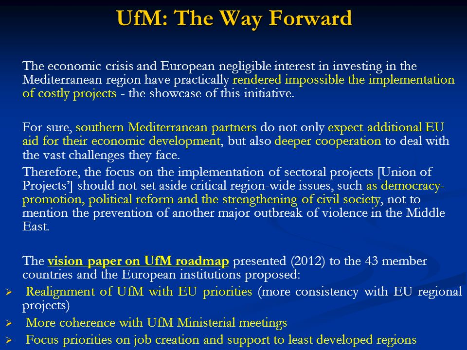 UfM: The Way Forward