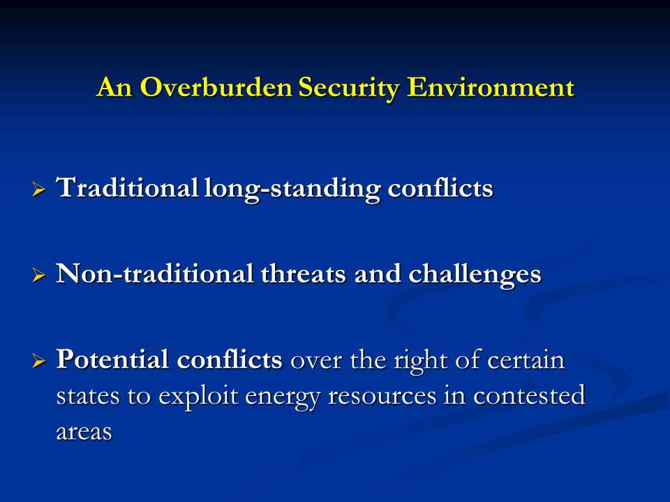 An Overburden Security Environment