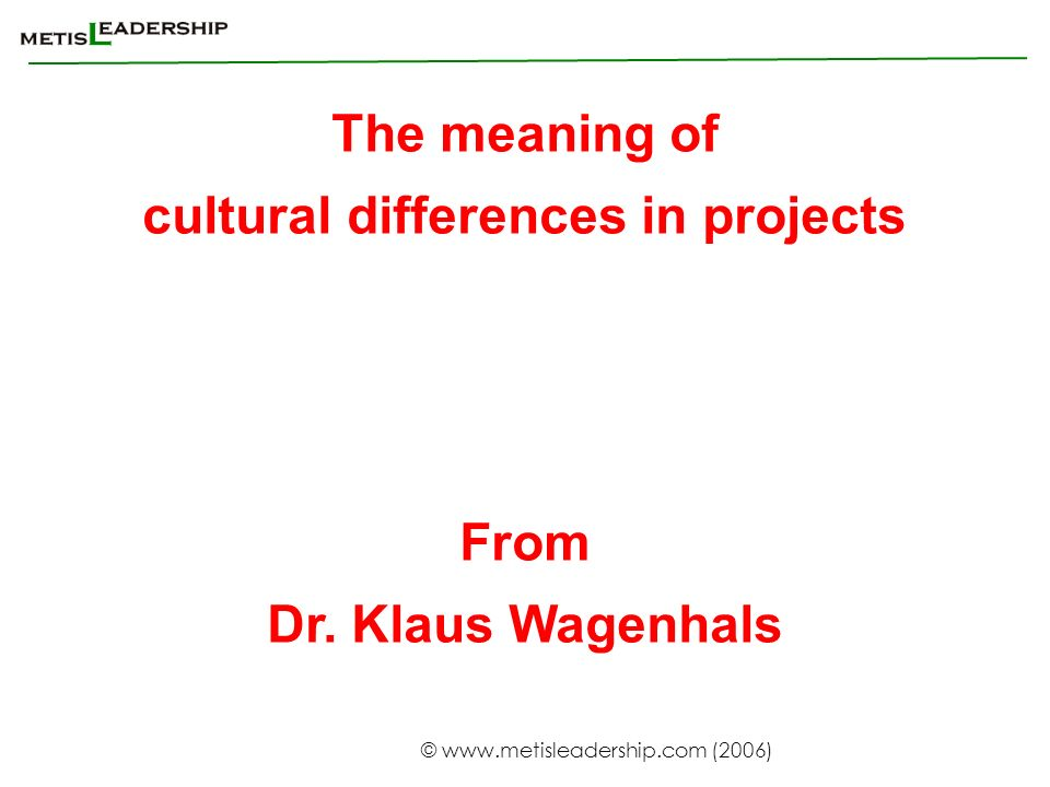 cultural differences in projects