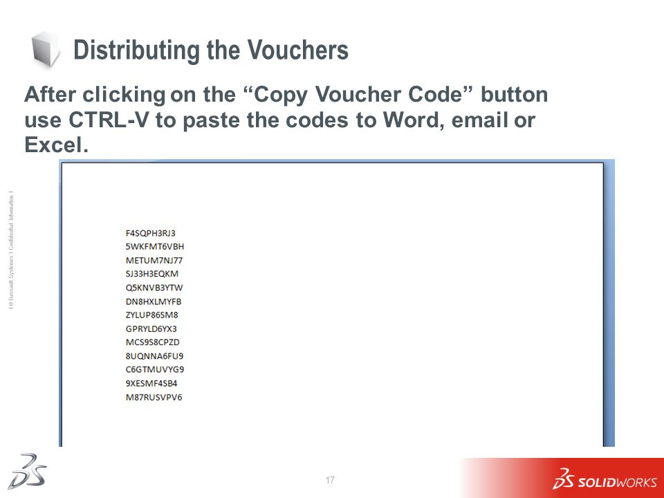 Distributing the Vouchers