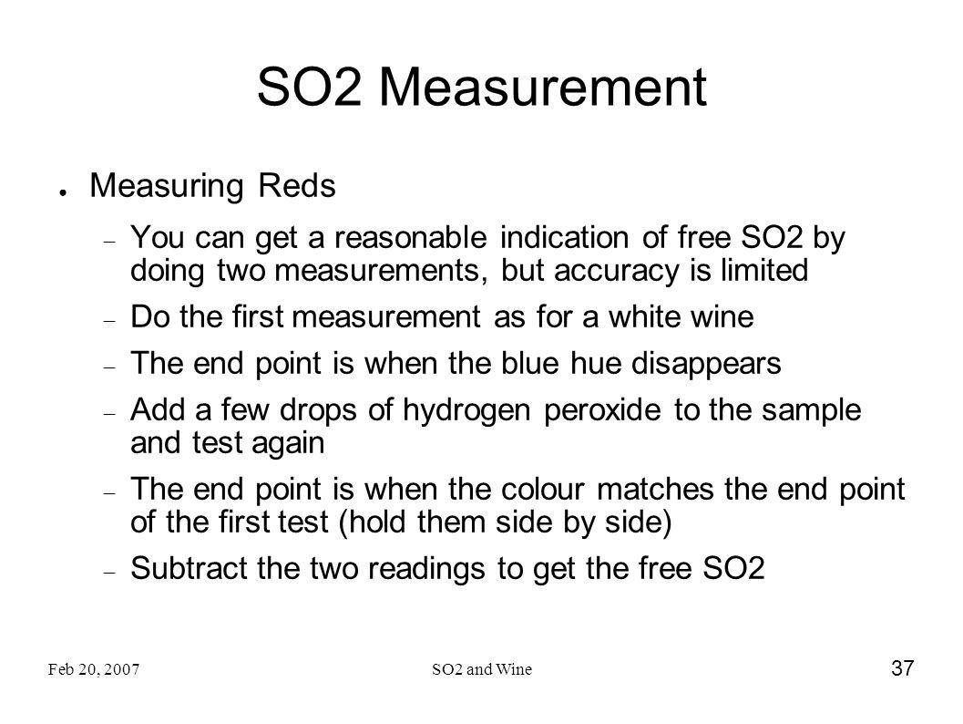 SO2 Measurement Measuring Reds